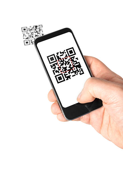 Mobile QR Code stock photo