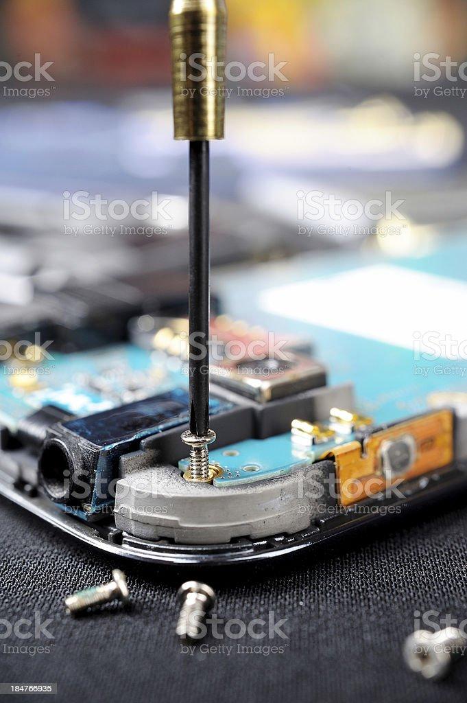 mobile repair royalty-free stock photo