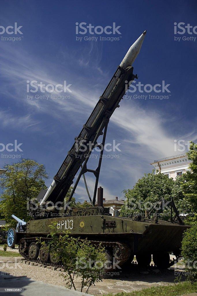 mobile rocket launcher stock photo