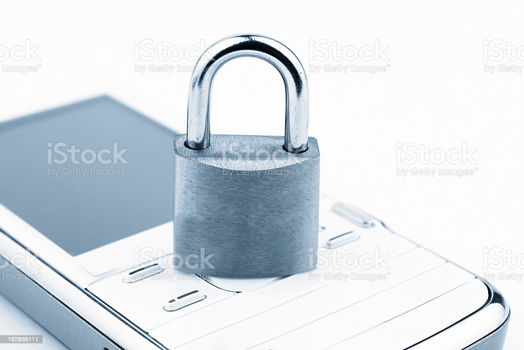 Mobile security royalty-free stock photo