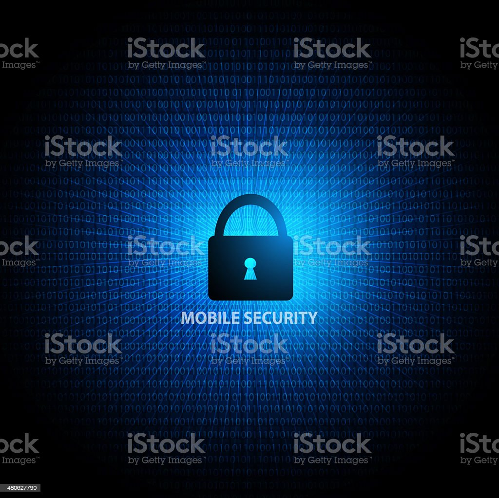 Mobile security protection stock photo