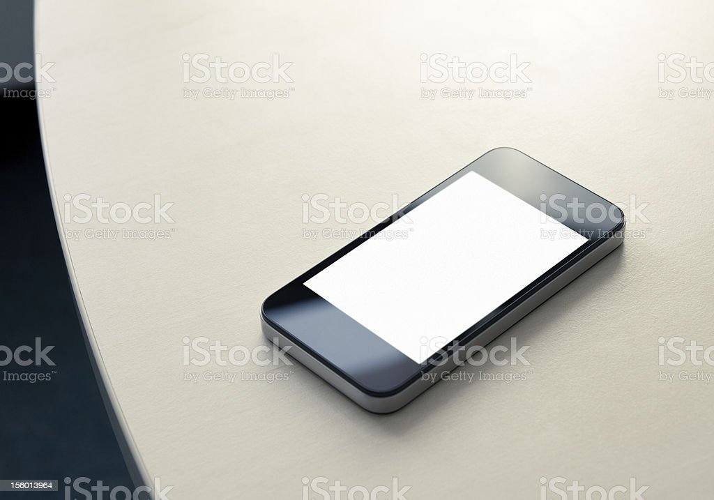 Mobile Smartphone On The Table royalty-free stock photo