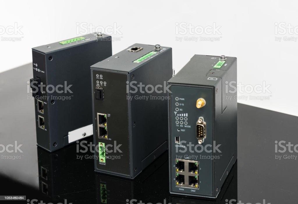 Mobile storage close-up isolated on white stock photo