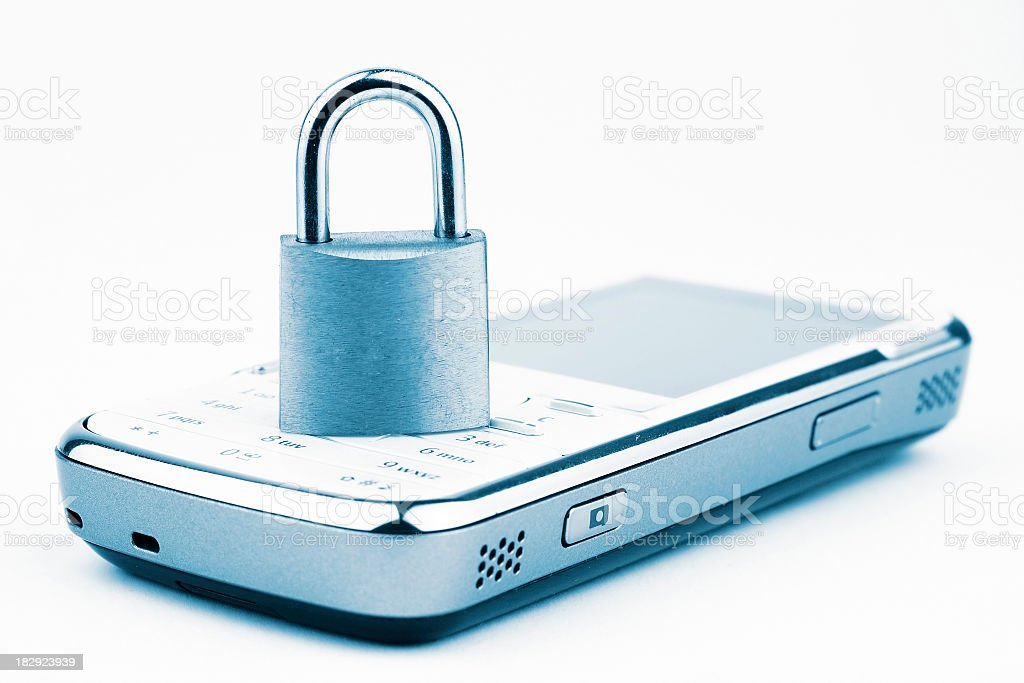 Mobile system lock royalty-free stock photo