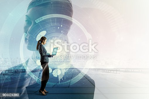istock Mobile technology concept. IoT(Internet of Things). ICT(Information Communication Technology). 904424380