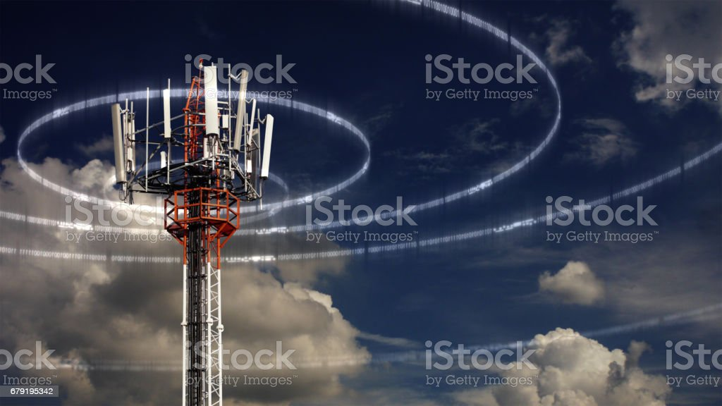 Mobile Telecommunication Tower stock photo