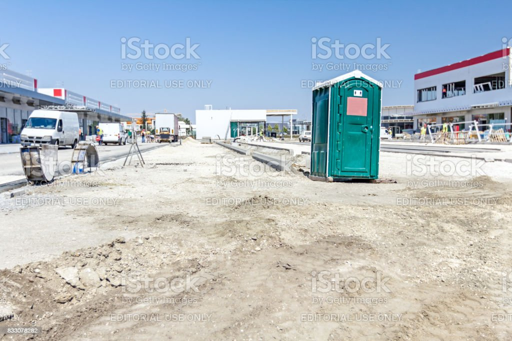 Mobile Toilette, Portal Potty, Toilets stock photo