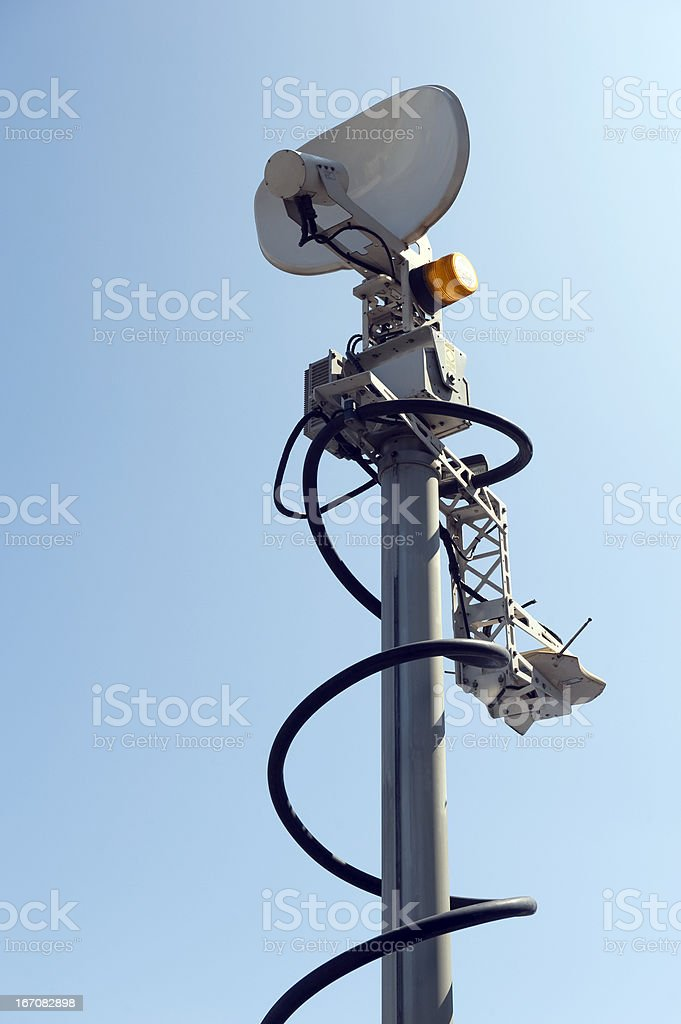 Mobile TV Antenna royalty-free stock photo