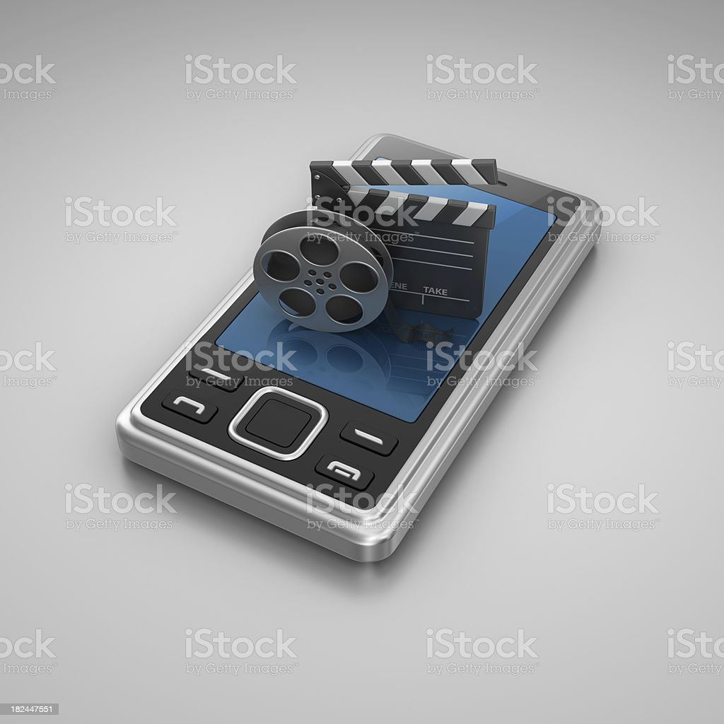 mobile video royalty-free stock photo