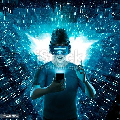 istock Mobile virtual reality user 824317052
