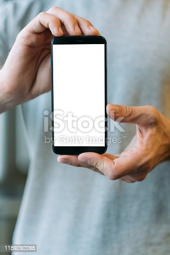 1161068403 istock photo mobile web application white mockup screen 1159292265