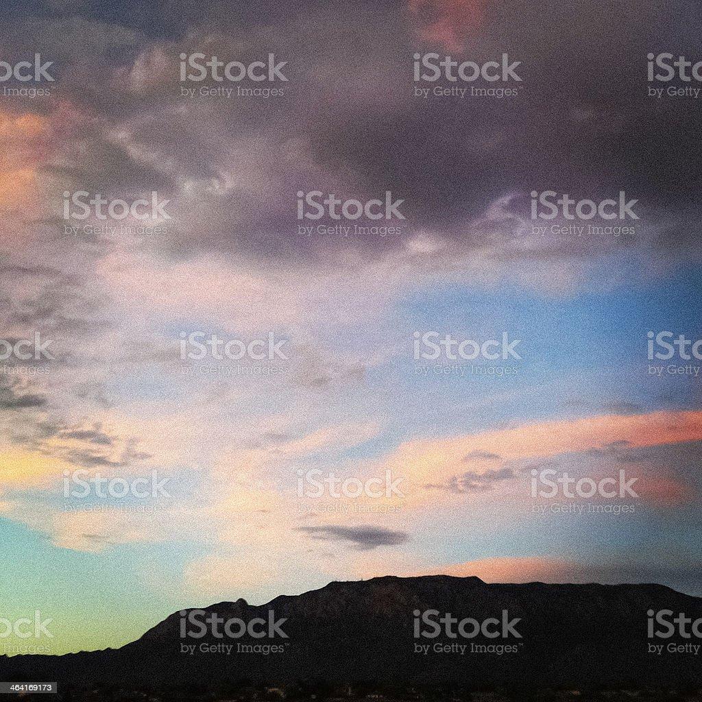 mobilestock dramatic sky mountain silhouette stock photo