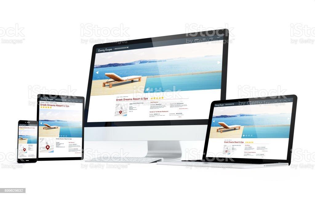 Mobilität Geräte Hotel und Spa responsive Webdesign – Foto