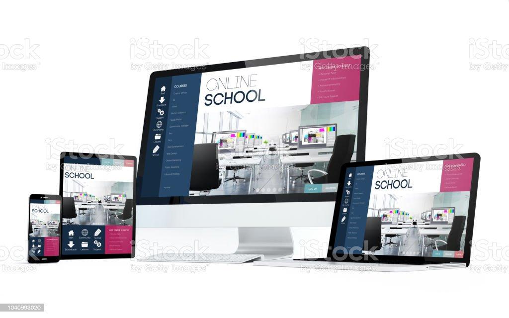 Mobilitätshilfen weiße Online-Schule – Foto