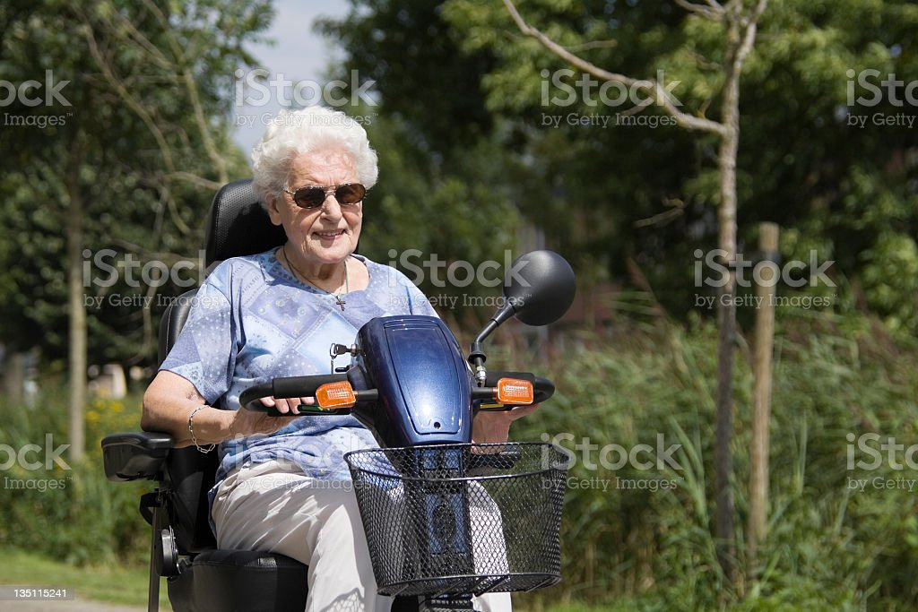 Mobility scooter royalty-free stock photo
