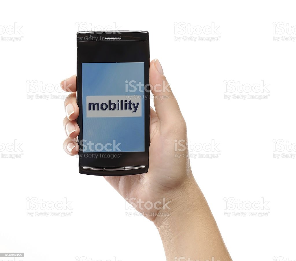 Mobility with mobile phone royalty-free stock photo