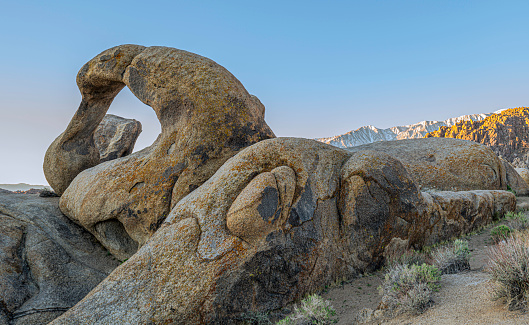 The Mobius Arch is just one of he arches found in the Alabama Hills near Lone Pine, California