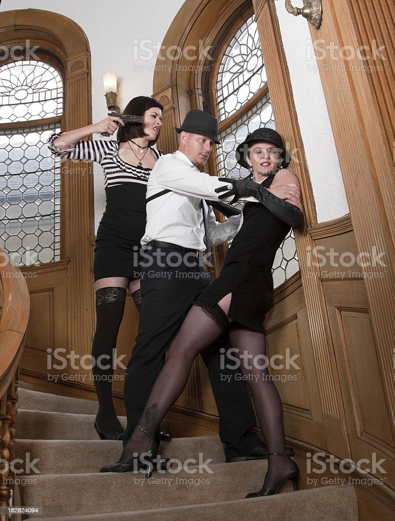 Mobster Fight royalty-free stock photo