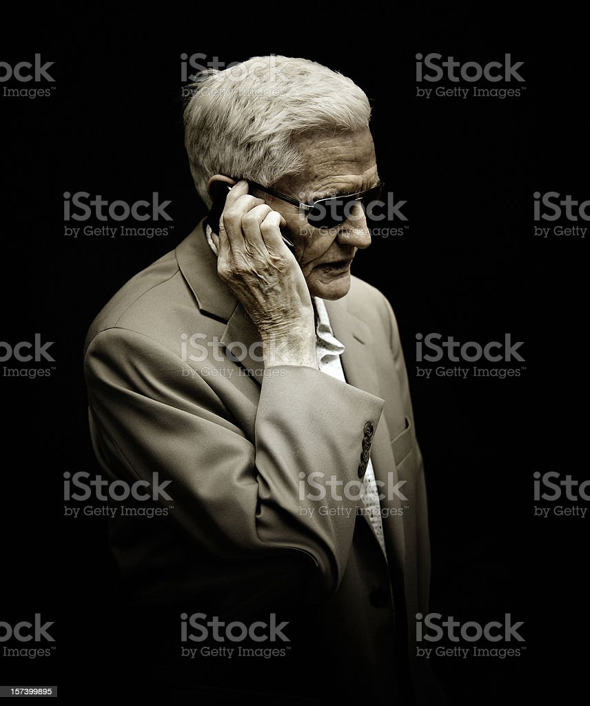 mobster in the phone stock photo