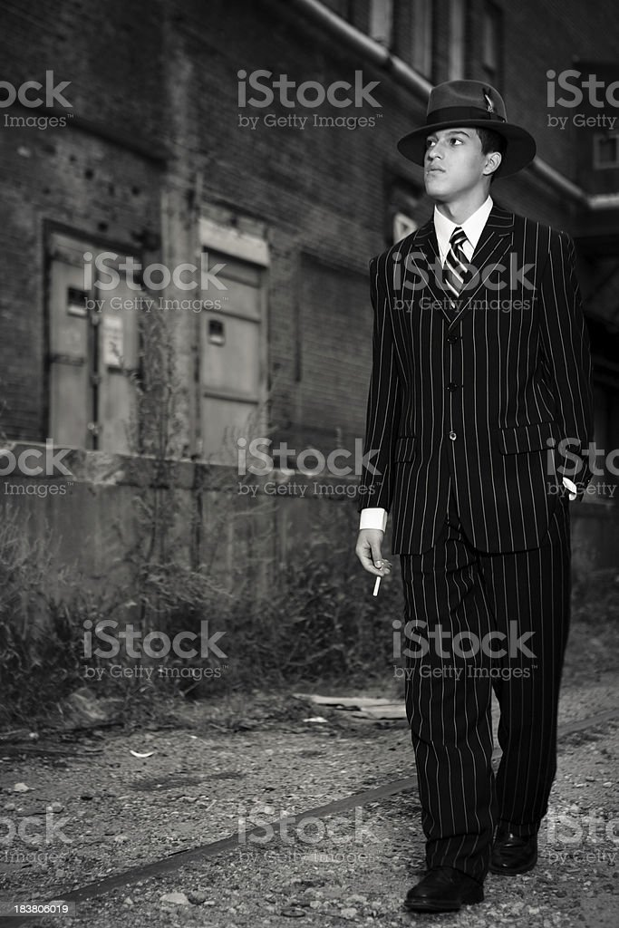 Mobster royalty-free stock photo