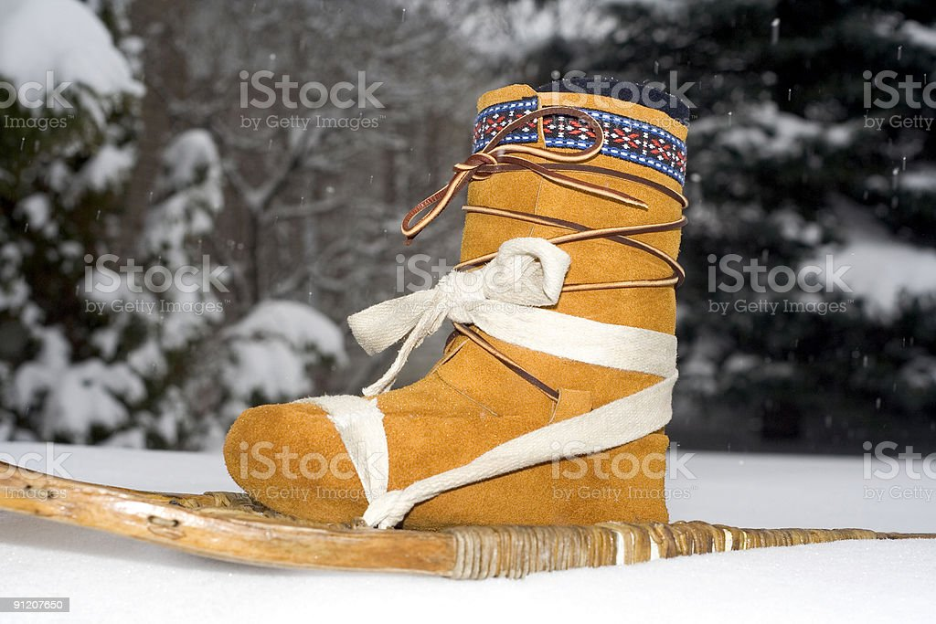 Moccasin shoe stock photo