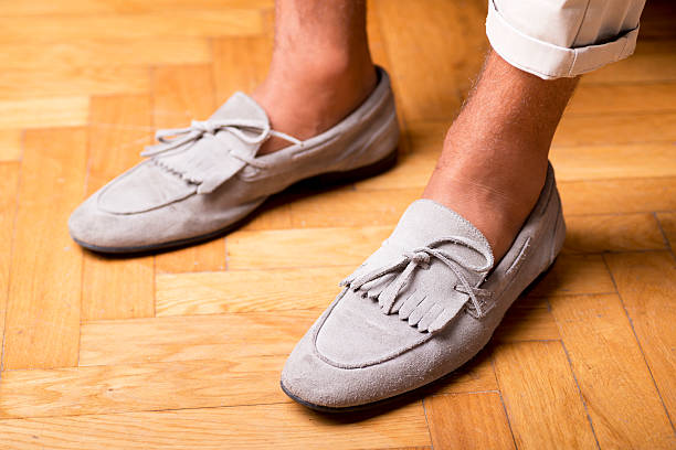 moccasins shoes stock photo