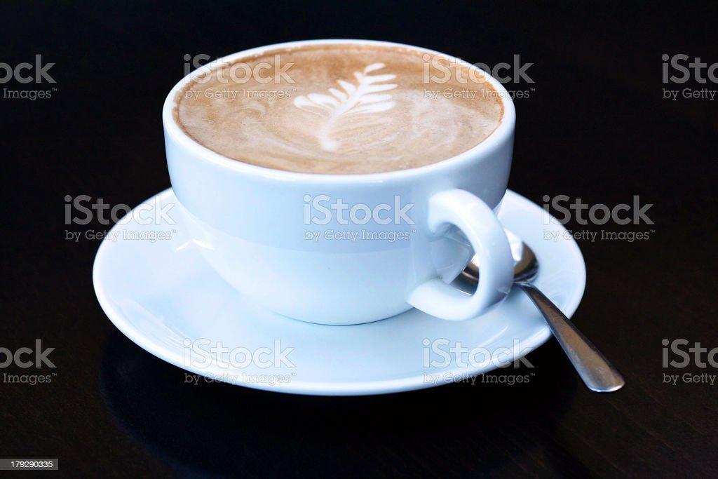 Mocha Coffee with leaf design royalty-free stock photo