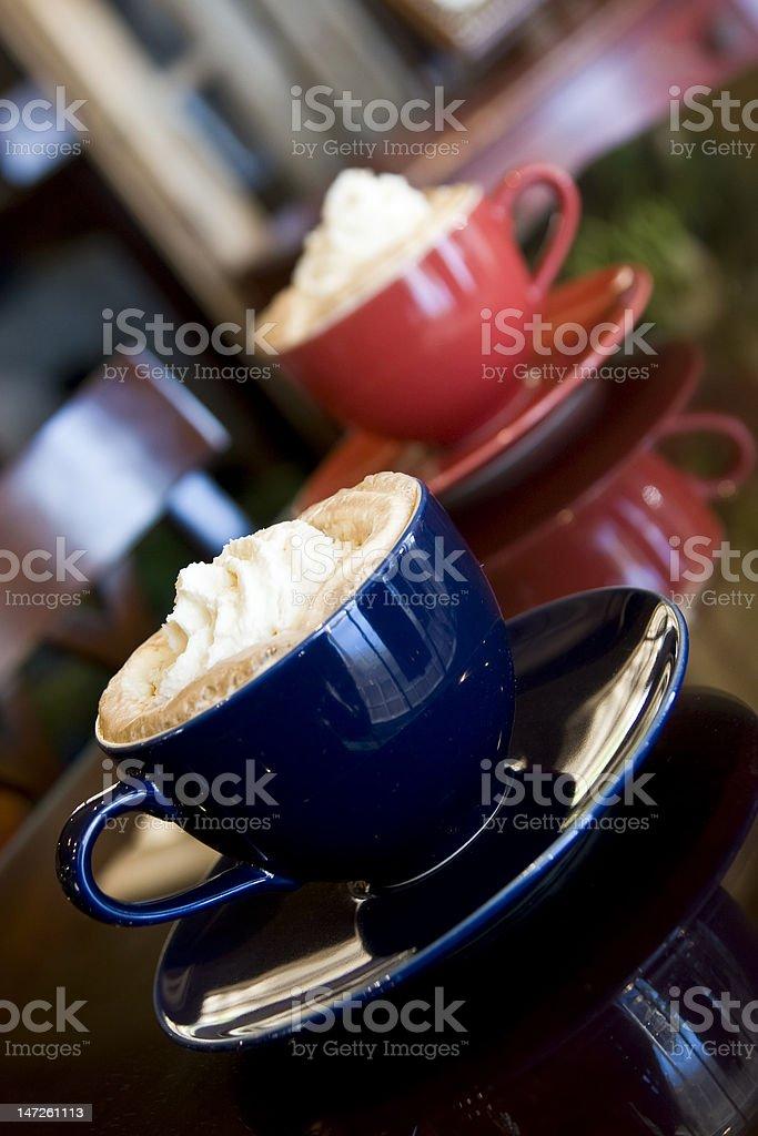 mocha lattes royalty-free stock photo