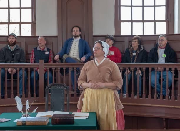 Scheinprozess in Colonial Williamsburg – Foto