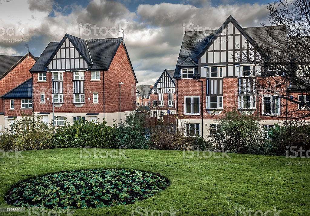 Mock Tudor Houses royalty-free stock photo