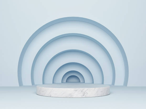 mock up abstract podium winnaar - boog architectonisch element stockfoto's en -beelden