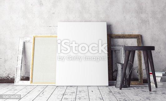 istock Mock up artist's studio interior 936286062