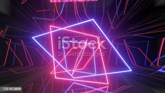 973972612 istock photo Mock up background/backdrop in minimal modern illustration design of neon light 1251823859