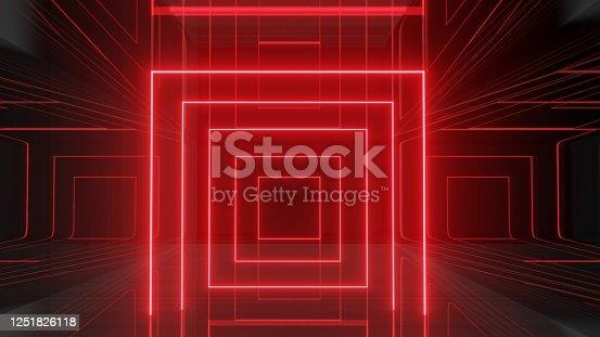 973972612 istock photo Mock up background/backdrop in minimal modern illustration design of neon light 1251826118