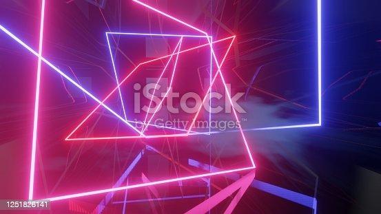 973972612 istock photo Mock up background/backdrop in minimal modern illustration design of neon light 1251826141