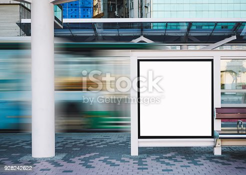 841502736 istock photo Mock up Banner template Bus Stop Media outdoor Advertisement Sign display 928242622