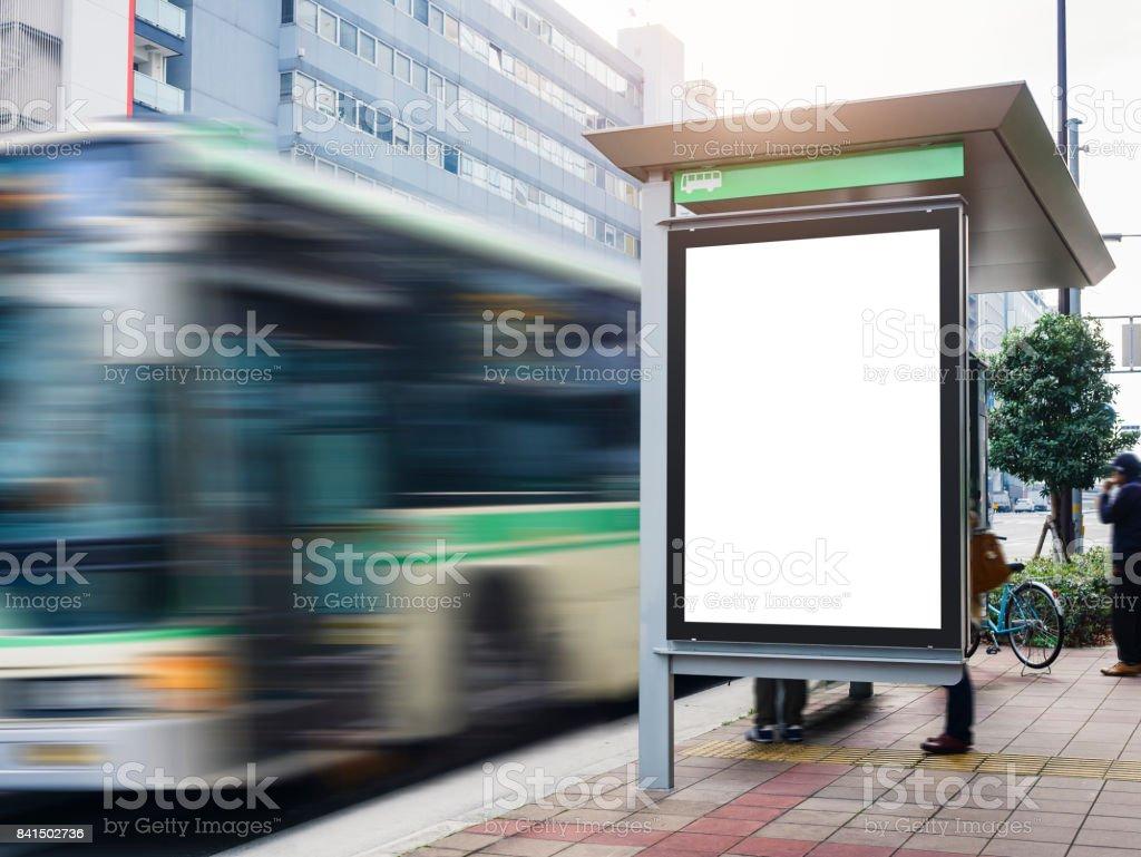 Mockup Billboard Banner Vorlage Bus Shelter Medien Im Freien Street ...