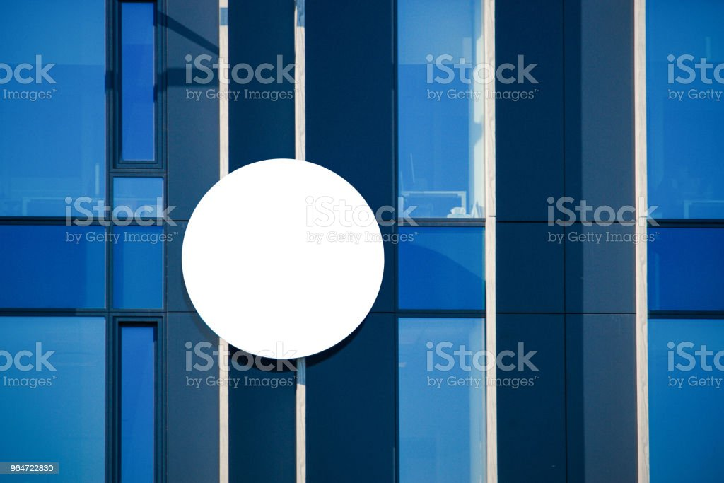 Mock up. Blank billboard outdoors, outdoor signboard on modern building royalty-free stock photo
