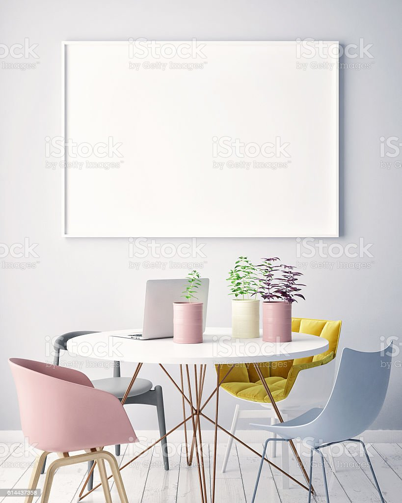 blank living room wall mock up blank poster on the wall living room stock 16378