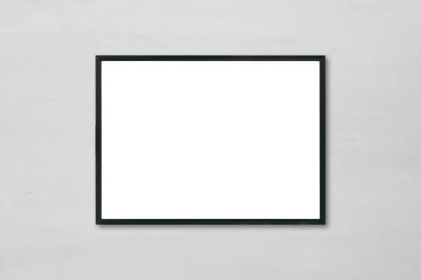 Mock-up leere Plakat Bilderrahmen hängen weiße Marmor Wand Hintergrund im Raum - gebrauchte Mock-up für die Montage Produkte Anzeige und werden wichtige visuelle Layout zu entwerfen. – Foto