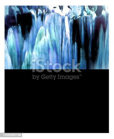 1018285596 istock photo Mock up blank poster picture frame texture background liquid abstract template 1203093186