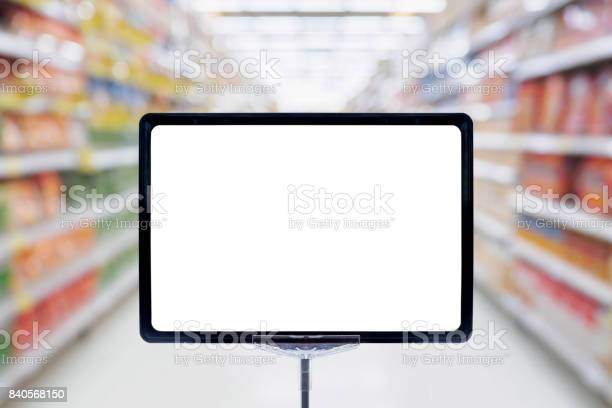 Mock up blank price board poster sign display with supermarket aisle picture id840568150?b=1&k=6&m=840568150&s=612x612&h=6dhteoz5ejepezq ivrahm74lkdqwg0rvjyvpvolqua=