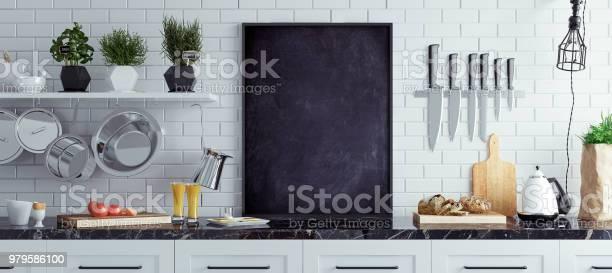 Mock up chalkboard in kitchen interior scandinavian style panoramic picture id979586100?b=1&k=6&m=979586100&s=612x612&h=llfsmwejkvsjous7zn0grsr4kk4wufpy36aqlcymvgk=