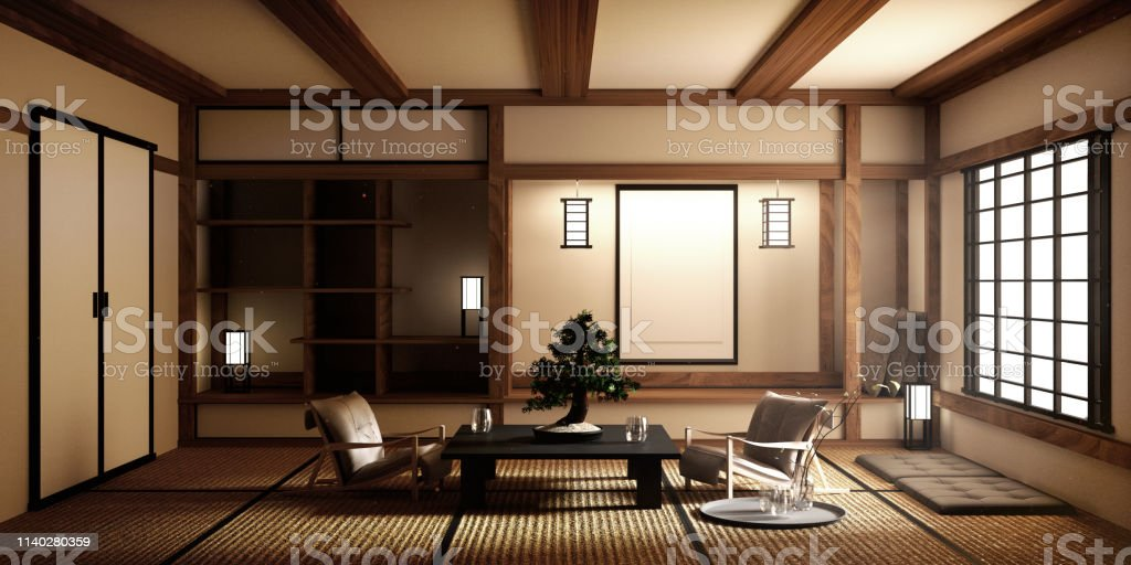 Mock Up Designed Specifically In Japanese Style Living Room ...