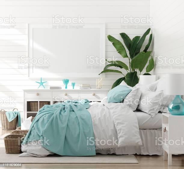 Mock up frame in bedroom interior marine room with sea decor and picture id1151829054?b=1&k=6&m=1151829054&s=612x612&h=4n0wzqnbkmkbcq 8a84g0y7hkfiifqgethoos01spcu=
