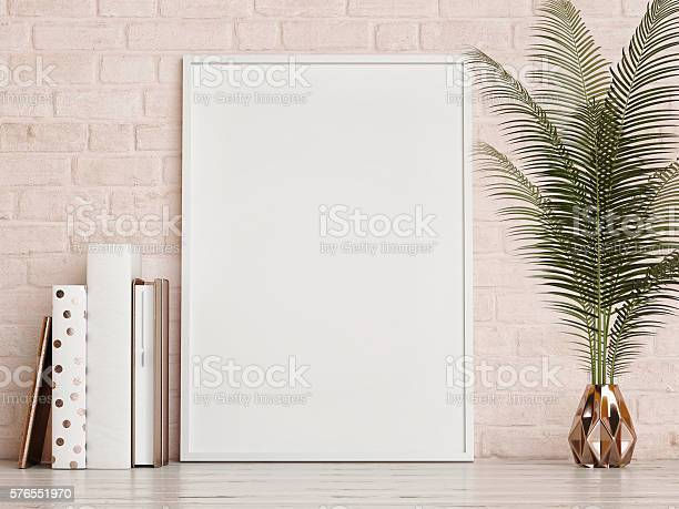 Mock up frame on rose brick wall picture id576551970?b=1&k=6&m=576551970&s=612x612&h=ewgig6l h746fqx6ro4txvytec ufy3epz3r 5qnewm=