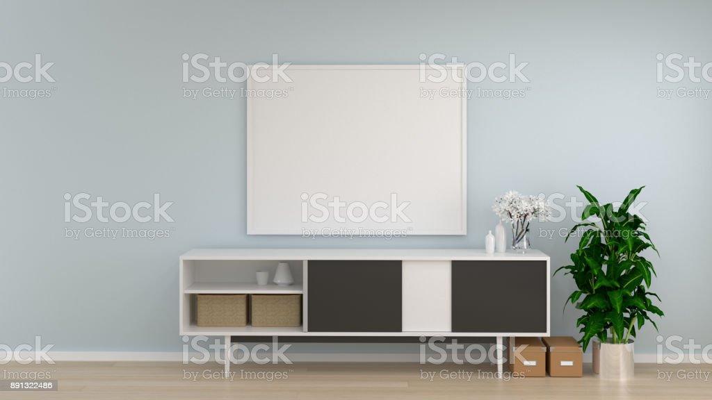 Maquette Frame Blanc Chambre Meuble Salon Fond Intérieur Mur Vide De ...