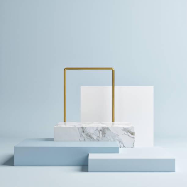 Mock up geometrische Form Podium für Produktdesign – Foto