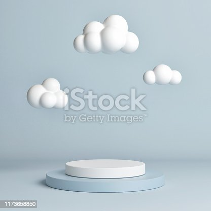 istock Mock up pedestal, abstract winner podium geometry concept 1173658850