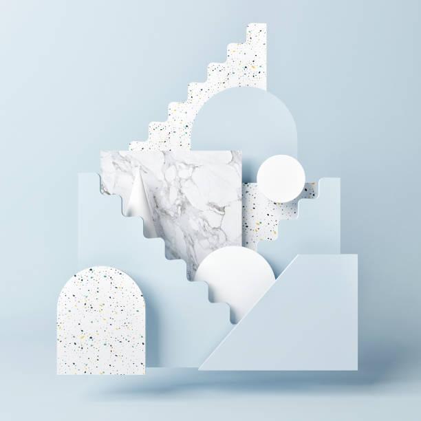 Mock up Sockel, abstrakte Sieger Podium Geometrie Konzept – Foto